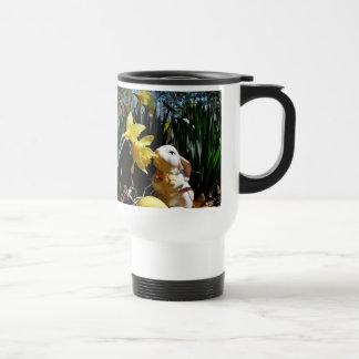 Rabbit and Yellow  Easter egg Travel Mug