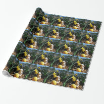 Rabbit and Yellow  Easter egg Wrapping Paper
