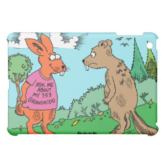 Rabbit | Beaver | Grandchildren Cartoon  iPad Mini Case