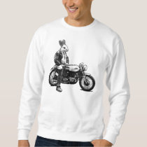 Rabbit biker sweatshirt