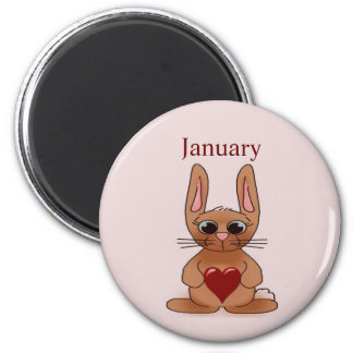 Rabbit Birthstone Magnet