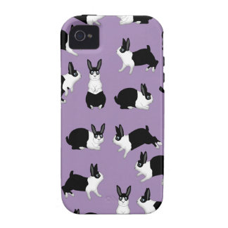 Rabbit black and knows vibe iPhone 4 cover
