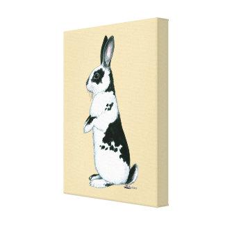 Rabbit:  Black and White Canvas Print