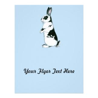 Rabbit:  Black and White Flyer