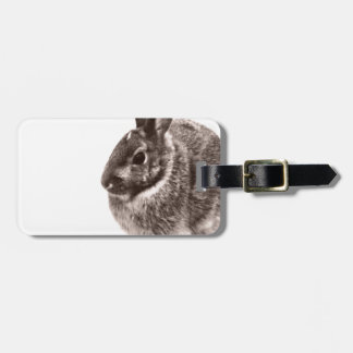 Rabbit  Black and white Luggage Tag