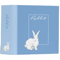 Rabbit blue Binder