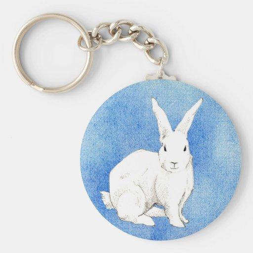 Rabbit Blue Keychain