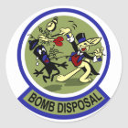 Rabbit Bomb Disposal Classic Round Sticker