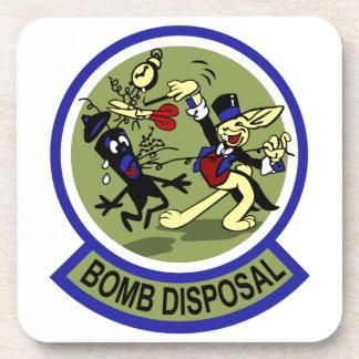 Rabbit Bomb Disposal Drink Coasters