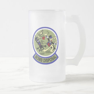 Rabbit Bomb Disposal Frosted Glass Beer Mug