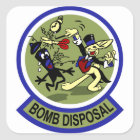 Rabbit Bomb Disposal Square Sticker