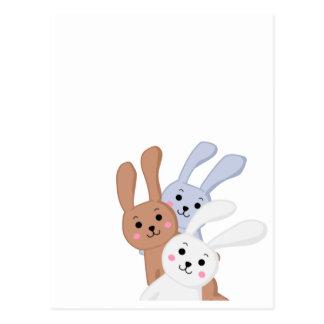 Rabbit brother Yuzu & Ume & Qabosu Postcard