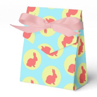 Rabbit Bunny Circles Pattern Favor Gift Box