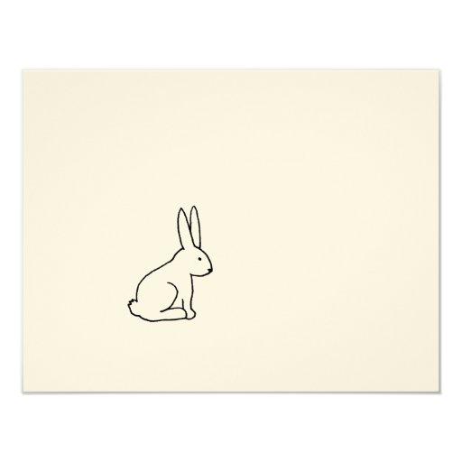 Rabbit bunny fun simple graphic symbol logo art personalized announcement