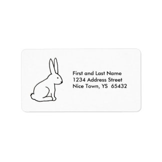 Rabbit bunny fun simple graphic symbol logo art label