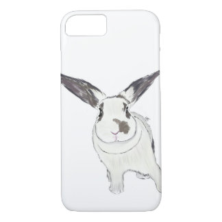 Rabbit Bunny Phone Case, Rabbit Illustration iPhone 7 Case