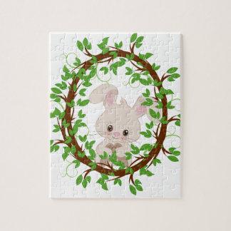 Rabbit , bunny, WOODLAND-CRITTERS Jigsaw Puzzle