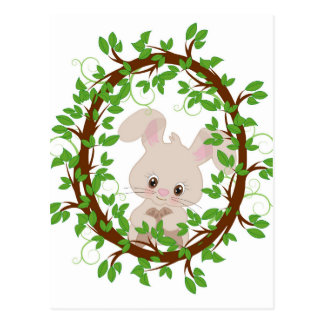 Rabbit , bunny, WOODLAND-CRITTERS Postcard