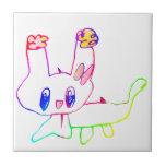 rabbit by kids 陶器タイル