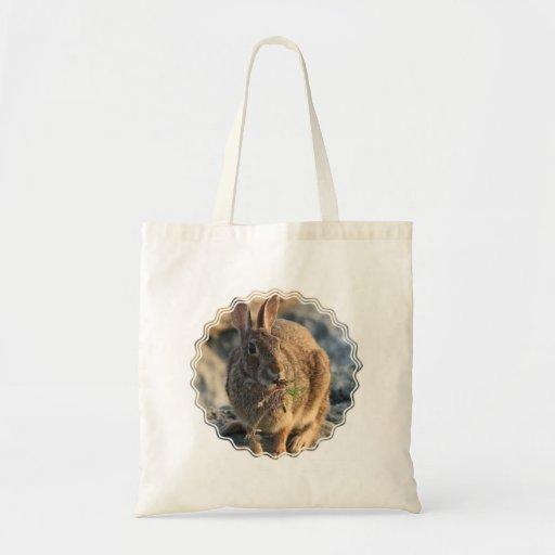 Rabbit Canvas Tote Bag