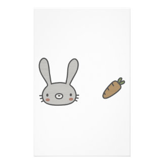 Rabbit & Carrot Stationery Paper