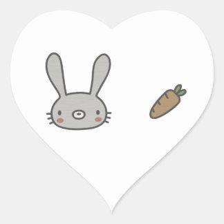 Rabbit & Carrot Stickers