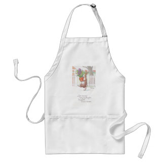 Rabbit Carrying Potted Purple Hyacinth Adult Apron