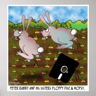 Rabbit Cartoon 8724 Poster