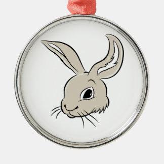 Rabbit Cartoon Character Metal Ornament