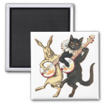 Rabbit & Cat Magnet
