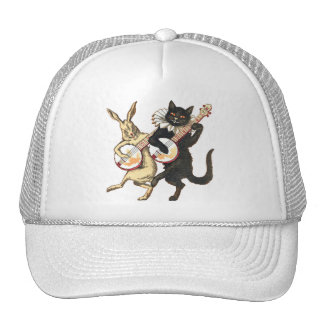 Rabbit & Cat Truckers Hat