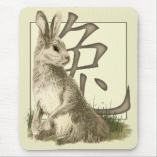 Rabbit & Chinese Symbol Mousepad