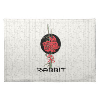 Rabbit (chinese zodiac) cloth placemat