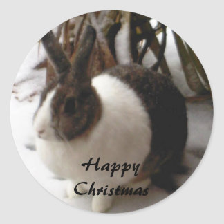 rabbit christmas stickers