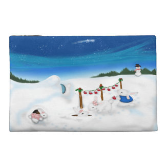 Rabbit Christmas Stocking family Travel Accessory Bags