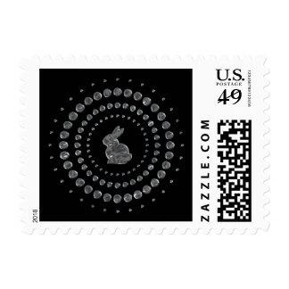 Rabbit Chrome Studs Stamps