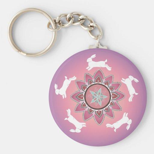 Rabbit Circle Keychain
