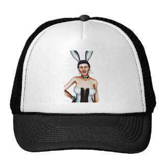 Rabbit close-up mesh hats