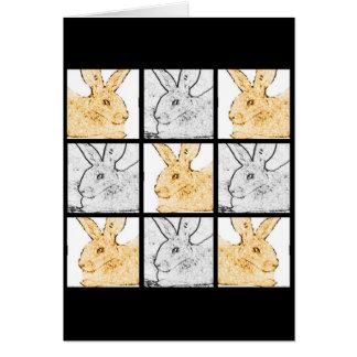 Rabbit Collage Greeting Card