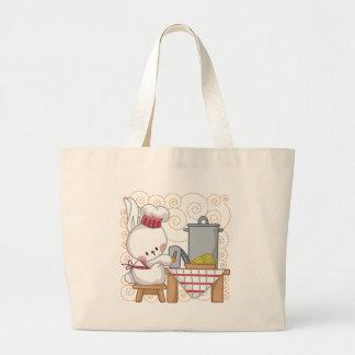 Rabbit Cook Tote Bags