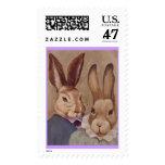 Rabbit Couple Stamp