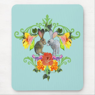 Rabbit Crest Mouse Mat Mouse Pad