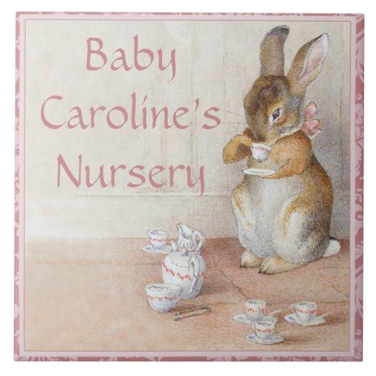 Rabbit Custom Art Tile or Trivet