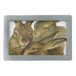 Rabbit Design Rectangular Belt Buckles