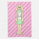 Rabbit Dressed as a Waitress. Hand Towels