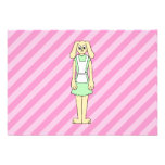 Rabbit Dressed as a Waitress. Personalized Announcement