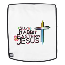Rabbit Easter Is Jesus Funny Christian Gift Backpack
