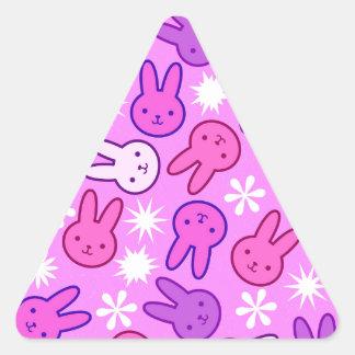 Rabbit easter triangle sticker