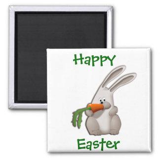 Rabbit Eating A Carrot Magnet