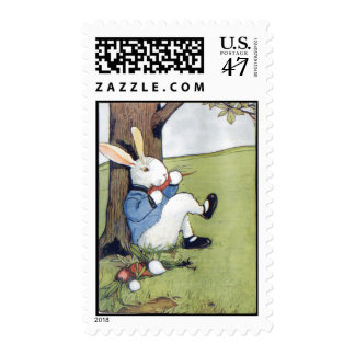 Rabbit Eating a Carrot Postage